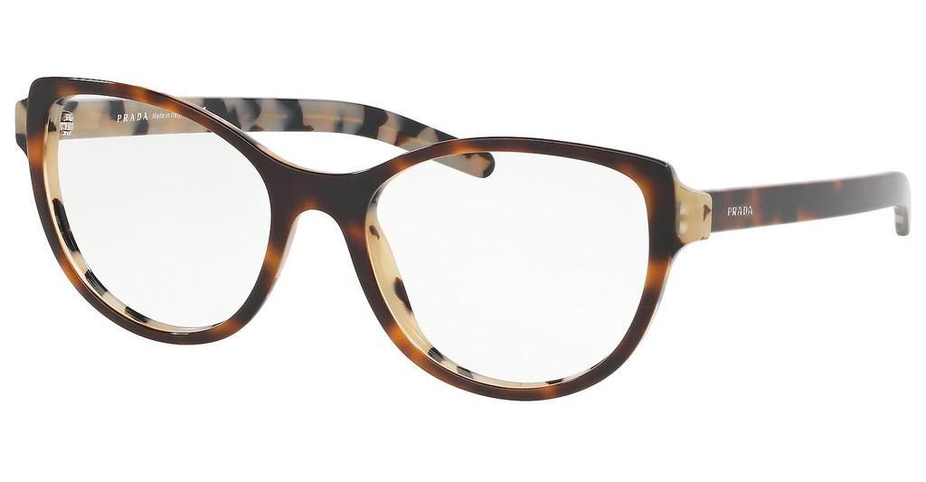 Prada   PR 12VV TH81O1 TOP DARK HAVANA/BLACK HAVANA