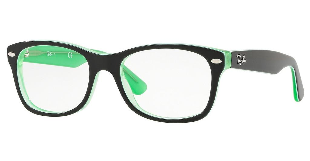 Ray-Ban Junior   RY1528 3764 BLACK ON GREEN TRANSPARENT