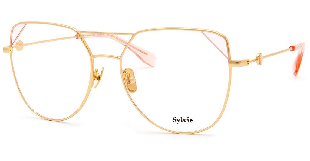 Sylvie Optics   1903 04 gold matt-pink