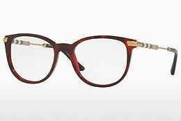 Brille Burberry BE2255Q 3657 - Rot, Braun, Havanna