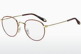 Brille Givenchy GV 0072 Y11 - Gold, Rot
