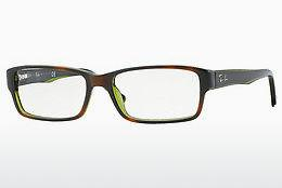 Brille Ray-Ban RX5169 2383 - Grün, Braun, Havanna, Transparent