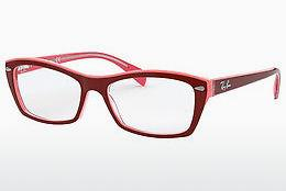 Brille Ray-Ban RX5255 (51) (RX5255 5777) - Rot, Rosa