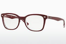 Brille Ray-Ban RX5285 5738 - Rot, Transparent