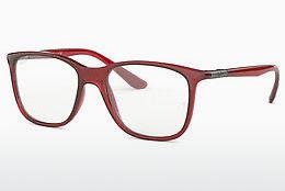 Brille Ray-Ban RX7143 5773 - Transparent, Rot