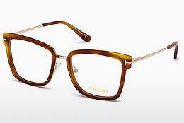 Brille Tom Ford FT5507 053 - Havanna, Yellow, Blond, Brown
