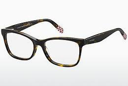 Brille Tommy Hilfiger TH 1483 O63 - Rot, Braun, Havanna