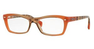 Ray-Ban RX5255 5487 GRADIENT BROWN ON ORANGE