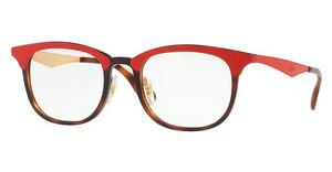 Ray-Ban RX7112 5730 HAVANA RED TOP MATTE RED