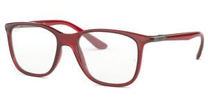 Ray-Ban RX7143 5773 TRASPARENT RED