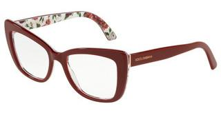 Dolce & Gabbana DG3308 3202 BORDEAUX/ROSE AND PEONY
