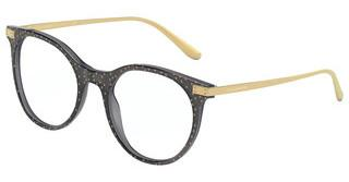 Dolce & Gabbana DG3330 3210 TRANSPARENT BLACK POIS GOLD