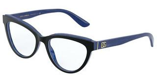 Dolce & Gabbana DG3332 3273 TOP BLACK ON BLUE MARBLE