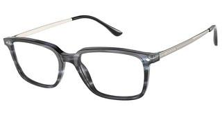 Giorgio Armani AR7183 5595 SHINY STRIPPED GREY