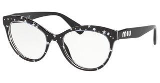 Miu Miu MU 04RV 1381O1 BLACK/WHITE STARS