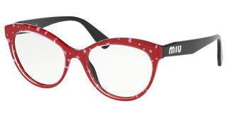 Miu Miu MU 04RV 1401O1 BLACK TOP RED/WHITE STARS
