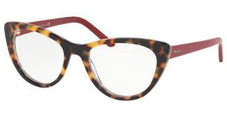 Prada PR 05XV 5141O1 MEDIUM HAVANA/RED CHESS