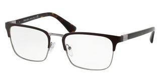 Prada PR 54TV LAH1O1 MATTE BROWN/GUNMETAL