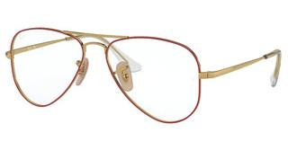 Ray-Ban Junior RY1089 4075 GOLD ON TOP RED