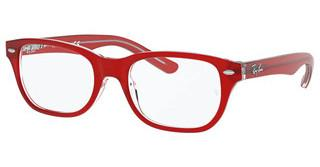 Ray-Ban Junior RY1555 3852 RED ON TRASPARENT
