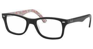 Ray-Ban RX5228 5014 TOP BLACK ON TEXTURE WHITE