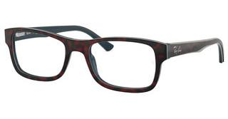 Ray-Ban RX5268 5973 TOP RED HAVANA ON OPAL BLUE