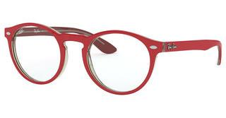 Ray-Ban RX5283 5987 RED ON TOP TRASPARENT GREY