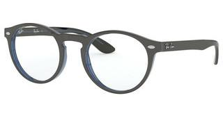 Ray-Ban RX5283 5988 GREY ON TOP TRASPARENT BLUE