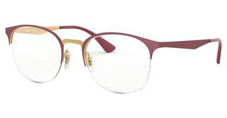 Ray-Ban RX6422 3007 PINK GOLD ON TOP MATTE BORDEAU