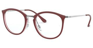 Ray-Ban RX7140 5970 TOP BORDEAUX ON TRASP RED