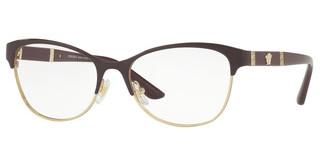 Versace VE1233Q 1418 EGGPLANT/PALE GOLD