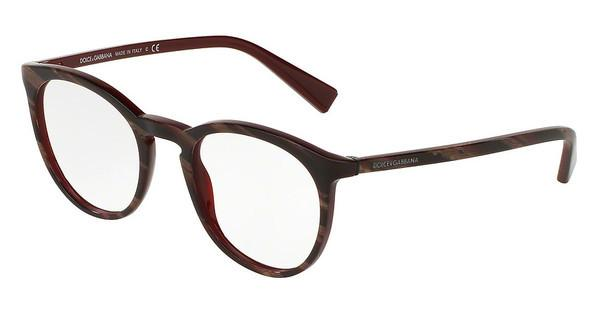 Dolce & Gabbana   DG3269 3093 STRIPED RED ON BORDEAUX