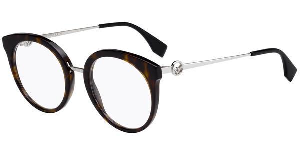 FENDI Fendi Damen Brille » FF 0165«, schwarz, RMG - schwarz