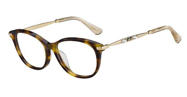 JIMMY CHOO Jimmy Choo Damen Brille » JC185/F«, schwarz, 807 - schwarz