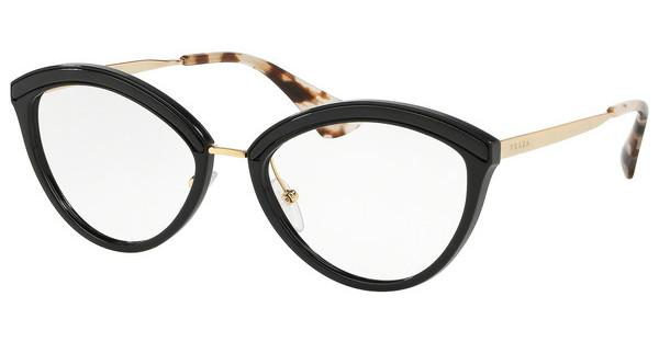 PRADA Prada Damen Brille » PR 14UV«, schwarz, KUI1O1 - schwarz
