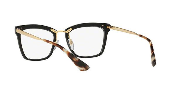 PRADA Prada Damen Brille » PR 15UV«, schwarz, KUI1O1 - schwarz