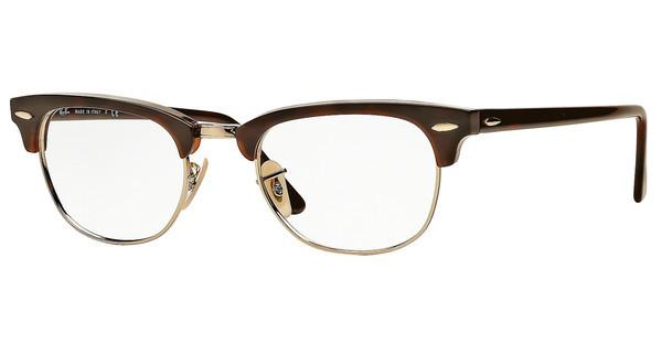 Ray-Ban Brillengestell 5154 Clubmaster 2372 Rot Havanna 51mm Zpn507Pd