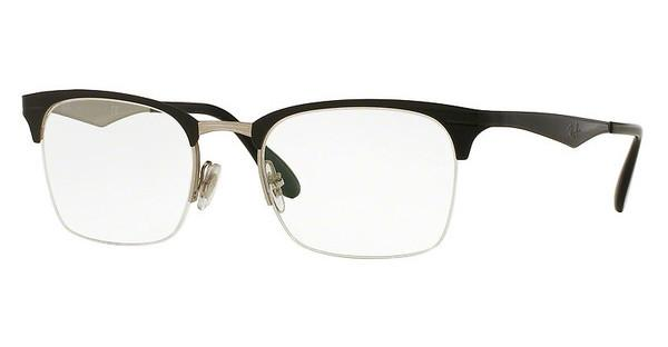 Ray-Ban   RX6360 2861 TOP SHINY BLACK ON SILVER
