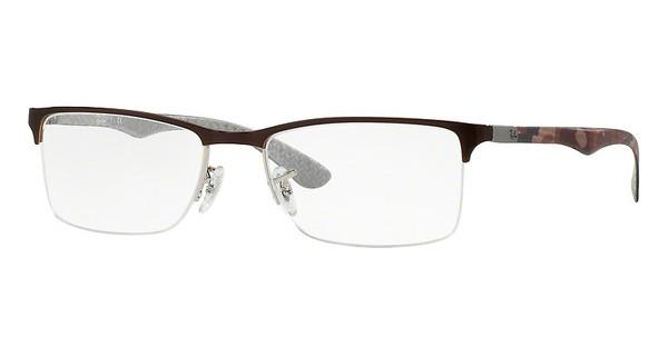Ray-Ban   RX8413 2892 SILVER TOP ON BROWN