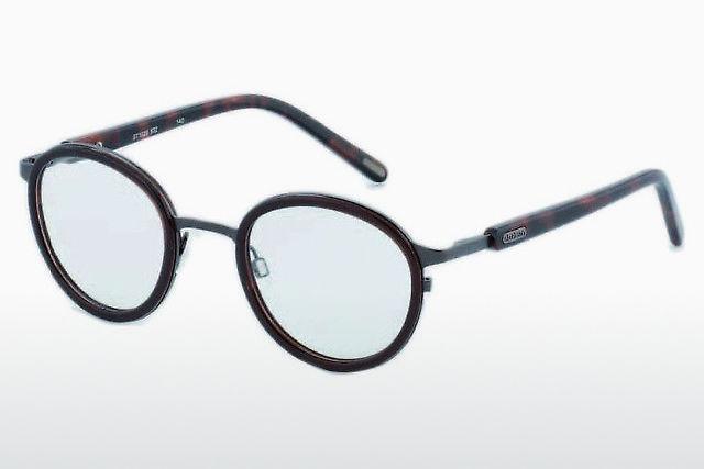 Brille Kunststoffbrille Damenfassung Occhiali Günstig Blau-schwarz Grösse M Sonnenbrillen & Zubehör Sonnenbrillen