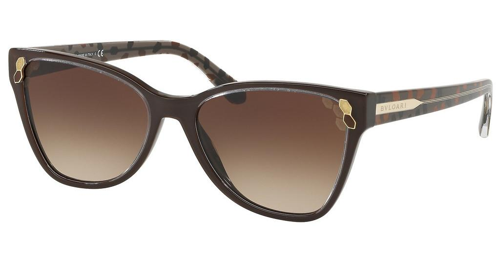 Bvlgari   BV8208 545413 BROWN GRADIENTTOP TRANSPARENT ON BROWN