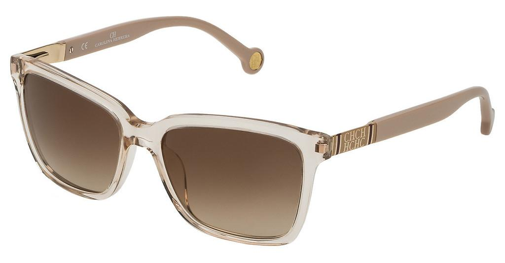 Carolina Herrera   SHE692 913G BROWN GRADIENT/MIRROR GOLDBEIGE CHIARO TRASP.LUCIDO