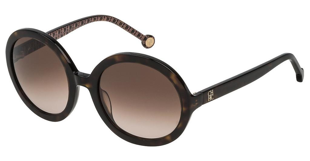 Carolina Herrera   SHE696 0722 BROWN GRADIENTSHINY DARK HAVANA