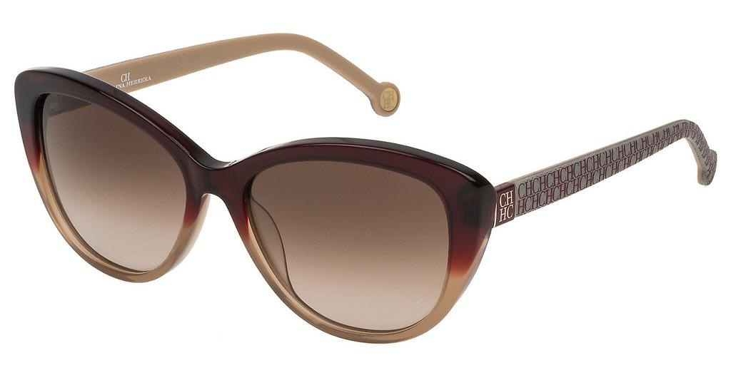 Carolina Herrera   SHE700 0AH7 BROWN GRADIENTBORDEAUX SFUMATO MARRONE