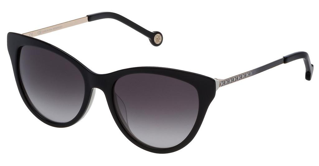 Carolina Herrera   SHE753 0943 SMOKE GRADIENTTOP NERO+BIANCO LUCIDO