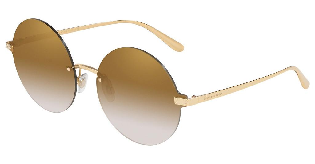 Dolce & Gabbana   DG2228 02/6E GRADIENT BROWN MIRROR GOLDGOLD