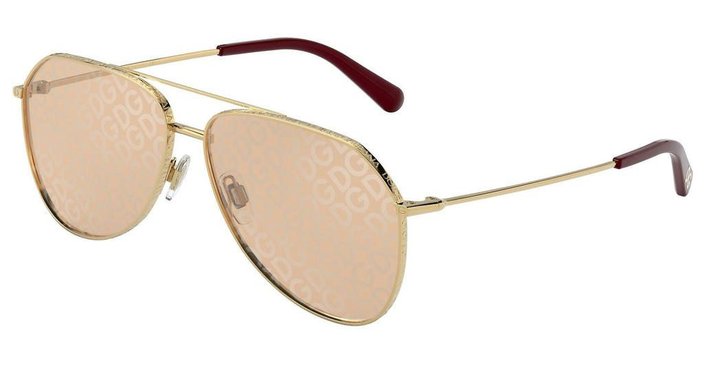 Dolce & Gabbana   DG2244 02/02 LIGHT BROWN TAMPO D&G SILVERGOLD