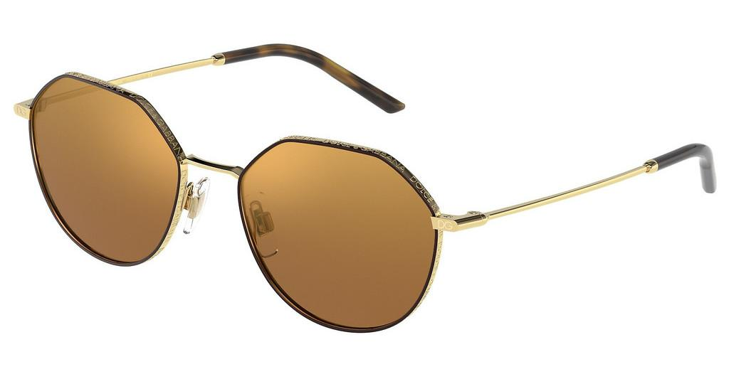 Dolce & Gabbana   DG2271 13446H BROWN MIRROR GOLDGOLD/BROWN