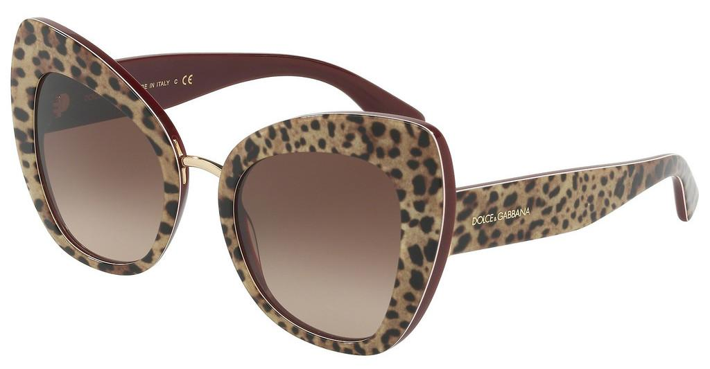 Dolce & Gabbana   DG4319 316113 BROWN GRADIENTLEO ON BORDEAUX