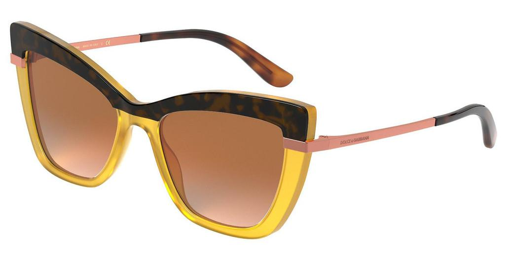 Dolce & Gabbana   DG4374 32677H ORANGE MIRROR SILVER GRADIENTTOP HAVANA ON OPAL OCHRE